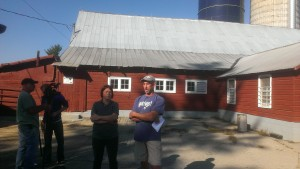 Farm Tour at Willow Grove Dairy Farm on September 20th.  Photo Credit: Kathy Ozer.